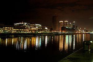 Vuelos a Buenos Aires: Vista de noche del Puerto Madero de Buenos Aires