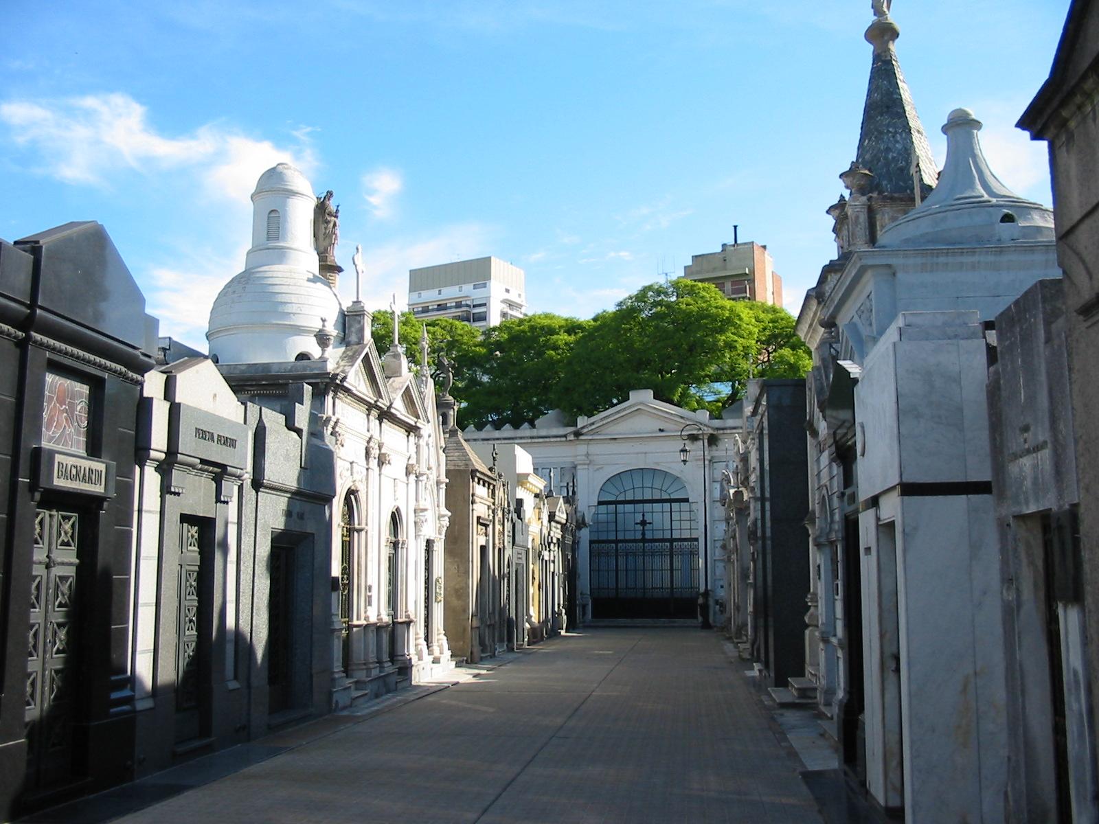 La Recolecta: Cementerio.